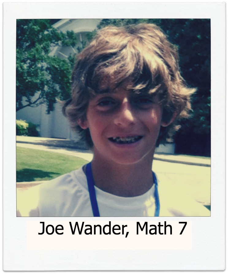 Joe Wander, 7th Grade Math
