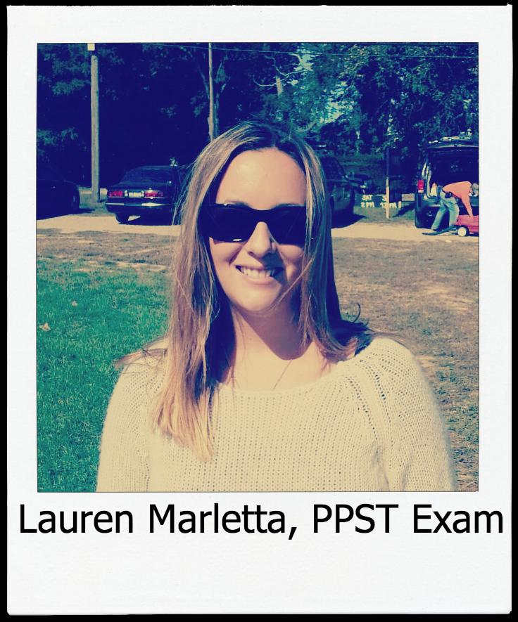 Lauren Marletta PPST Exam Testimonial